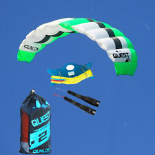 3m² Dual Line Parachute Kite Set Traction with Wrist Straps and Dyneema Line