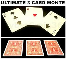 AMAZING 3 CARD TRICK 2 GIMMICK ULTIMATE MONTE RED BICYCLE BACK EASY COMEDY MAGIC
