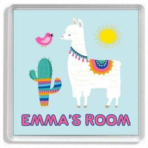 Personalised LLAMA Girls Bedroom Door Sign / Door Plaque