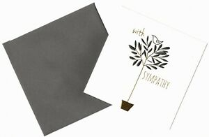 'WITH SYMPATHY'  CONDOLENCE GREETING CARD - HIGH FOILED - QUALITY - FREE P&P