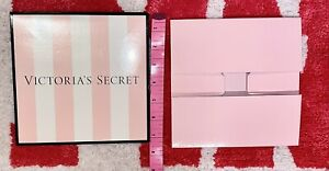 "VICTORIA'S SECRET STRIPED PINK GIFT BOX SMALL X 2  ""FREE SHIPPING"" HTF"