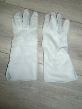 More details for raf white leather flying gloves size 7 genuine issue