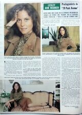 LESLEY ANN WARREN => 1 page 1982 vintage SPANISH CLIPPING!!!