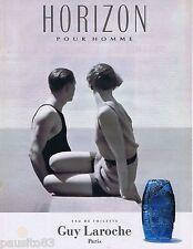 PUBLICITE ADVERTISING 095 1993 Horizon pour homme de Guy Laroche