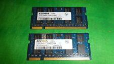 ELPIDA 2GB 2Rx8 PC2- 6400s-666 Laptop RAM LOT OF 2   #8