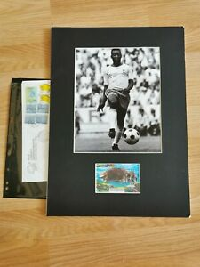 Genuine Signed Pele football Mount With Official Envelope