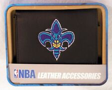 New Orleans Hornets NBA Embroidered Leather Trifold Wallet NEW in Gift Tin