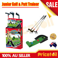 New Deluxe Kids Junior Golf and Putt Trainer Set Pretend Play Toy Gift AU Stock