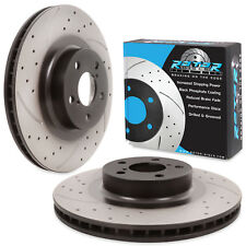 FRONT DRILLED GROOVED 294mm BRAKE DISCS PAIR FOR SUBARU FORESTER LEGACY OUTBACK
