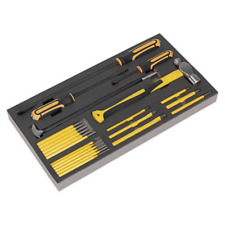 Sealey S01131 Tool Tray with Prybar, Hammer & Punch Set 23pc SWS21