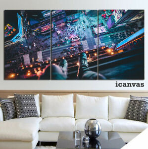 Times Square City View 3 piece HD Art Poster Wall Home Decor Canvas Print