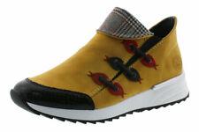 Rieker Damen Sneaker, Gr. 40, gelb, weiches Memosoft Fußbett, X8082