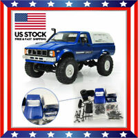WPL C24 1/16 Kit 4WD 2.4G 2CH Military Truck Crawler Off Road RC Car Toy US