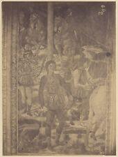 Italie Italia 2 Photos Alinari d'une Fresque Peinture Vintage albumine c 1875
