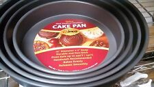 """12""""x 2"""" Round Deluxe Cake Deep Dish Pizza Pan- Anodized Aluminum, Non-Stick"""