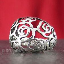 Markenlose Ringe ohne Steine aus echtem Edelmetall für Damen (19,1 mm) Ø 60