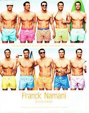 Publicité Advertising 078  2012  caleçons bain homme Franck Namani