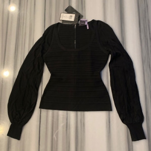 HERVE LEGER Long Sleeve Top, XS, NWT