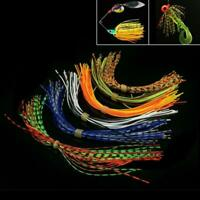 1 Bundles Fishing Rubber Jig Skirts Mixed Color 40 Strands Silicone Skirts Lures