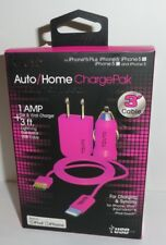 Tzumi Auto/Home ChargePak, car & wall charger 1Amp+3ft cable