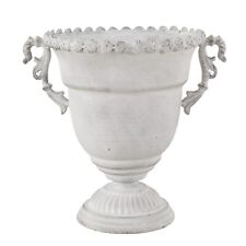 Pflanzgefäß Pokal Amphore Metall antik grau Blumentopf Shabby Vintage Nostalgie