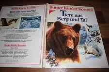 BUNTER KINDER KOSMOS --- TIERE aus BERG und TAL // Illus. Rinaldo d`Ami 1987