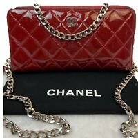 AUTHENTIC CHANEL CC PATENT Leather  Long Wallet~US SELLER