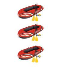 Bestway 77x45 Inches HydroForce Inflatable Raft Set with Oars and Pump (3 Pack)