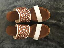 Italian Leather Sandals Platforms Sz 8