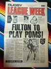 ✺RUGBY LEAGUE WEEK✺ 1978 Vol 9 No 6 MANLY SEA EAGLES Bob Fulton NRL Big Magazine