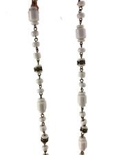 J Crew White Bead Gold Preppy Boho Womens Necklace Costume Jewelry