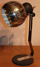 Lampe DLG ADNET Métal chromé et pied fonte noir Modernisme XXème