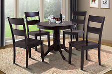"36"" BROOKLINE DINETTE DINING ROOM ROUND TABLE SET  IN CAPPUCCINO"