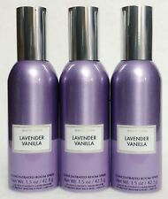 3 Bath & Body Works LAVENDER VANILLA Mini Concentrated Spray Mist Room Perfume