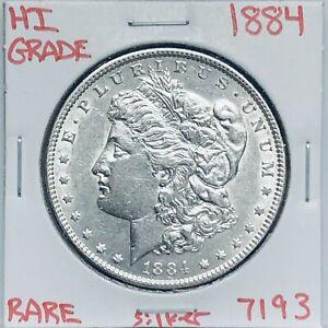1884 MORGAN SILVER DOLLAR HI GRADE GENUINE U.S. MINT RARE COIN 7193
