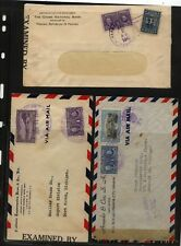 Panama  3  censor covers   1942            MS0913