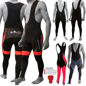 Cycling Bib Tights Padded Thermal Bib Tights  Anti-Bac Mens & Ladies