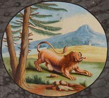 Der Löwe und die Mücke, Fabel Äsop, um 1800, Gouache