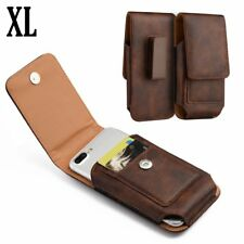 for SAMSUNG GALAXY J7 - Vertical BROWN Leather Pouch Holster Case w/ Belt Clip
