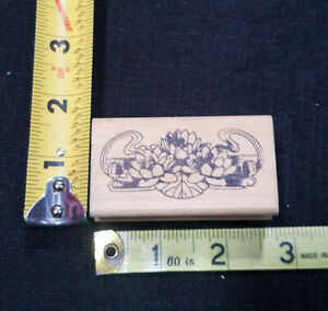 Floral Arrangement Rubber Stamp Wood Mounted Stamp Affair