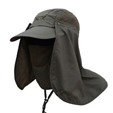 Outdoor Sport Fishing Hiking Women Men Hats UV Protection Face Neck Flap Sun Cap