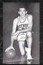 1960'S  BASKETBALL POSTCARD  GENE SHUE DETROIT PISTONS - BLANK BACK