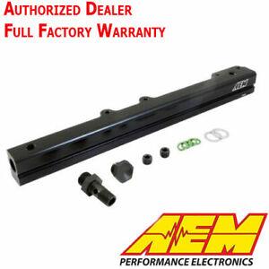 AEM 25-109BK Black Fuel Rail 96-00 Honda Civic EX 96-97 Del Sol 1.6L SOHC VTEC