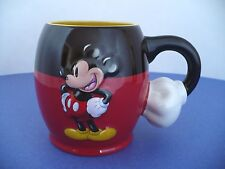 """Disney Parks Mickey Mouse Mug with Mickey Arm Handle. Approx. 4.25"""" Tall"""