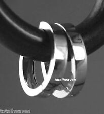 Italian Solid 14K White Gold Huggies Hoop Earrings 11mmX2mm small 0.77g BEAUTIES