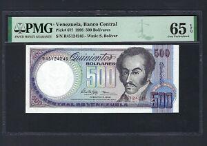 Venezuela 500 Bolivares 5-2-1998 P67f Uncirculated Grade 65