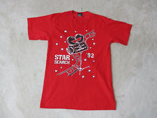 VINTAGE Star Search Shirt Adult Medium Red Salute To Disney TV Show Screen Stars