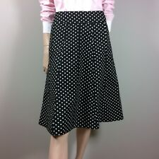 DKNY Womens skirt L 40 Black Spotted Retro Polka Dot Fit   Flare Vintage  Style 9355896f70