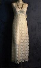 Claire Pettibone Gown Heirloom Couture Luxury Lingerie Cassandra Long S NEW $330