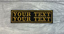 2 LINE CUSTOM PERSONALISED BIKER EMBROIDERED PATCH CLUB TRIKER SEW ON